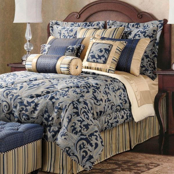 Home Bedding Collections Bedding Color When You Feel Bored Blue And Gold Bedding Sets Home