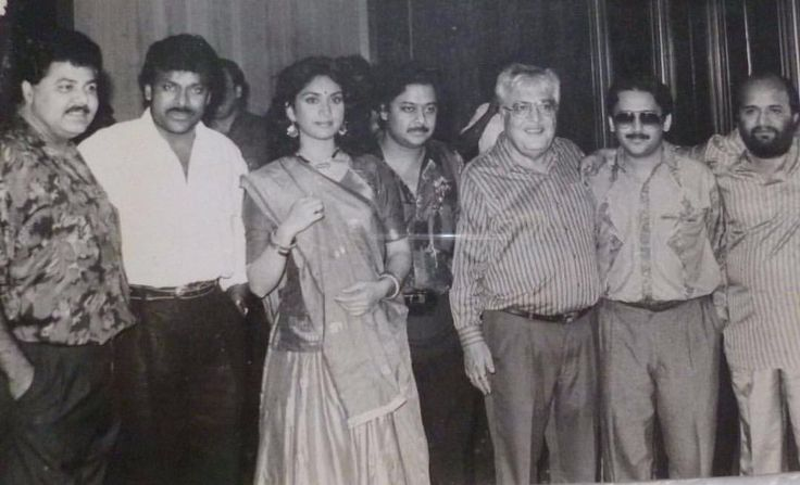 "2 Likes, 1 Comments - muvyz.com (@muvyz) on Instagram: ""Chiranjeevi, Meenakshi Seshadri, Satish Shah, N N Sippy, Anand-Milind and Sameer at Aaj Ka Gundaraj…"""