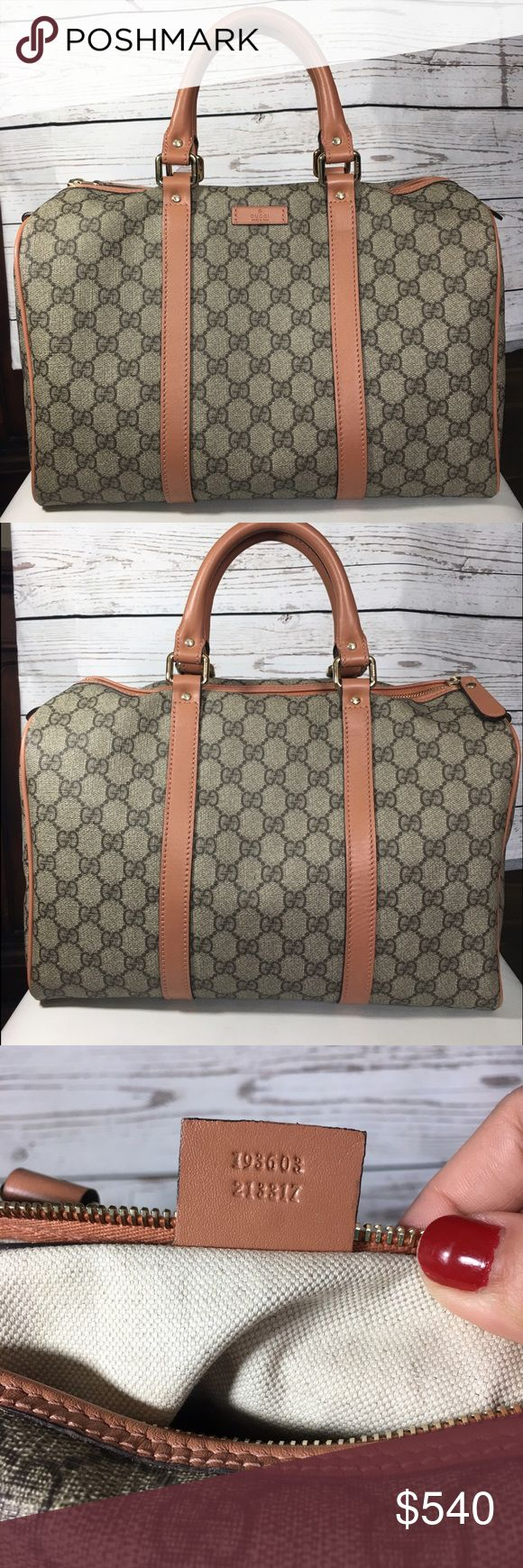 💯 Authentic Gucci Boston Medium Satchel Gucci Web GG Boston Medium Bag. In very good condition ! Gently used ! Came in original dust bag.PRICE IS FIRM Gucci Bags Satchels