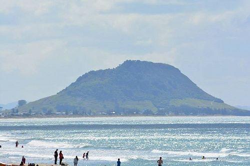 Mt Maunganui from Papamoa Beach