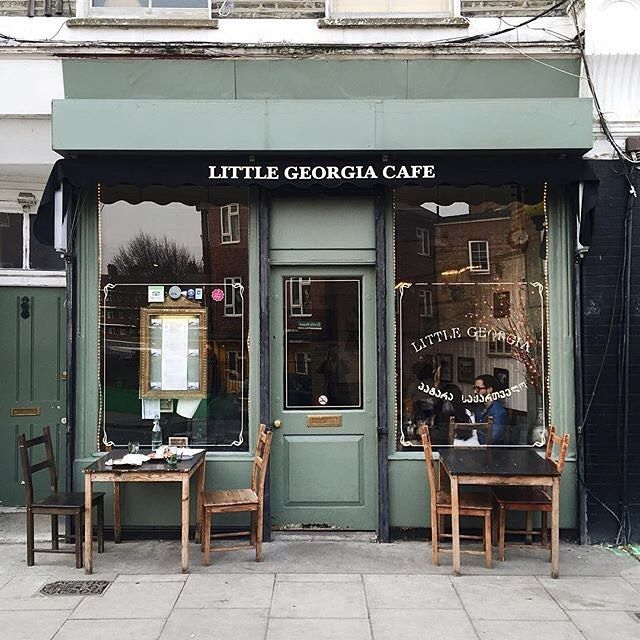 "suchlovelylittlefinds: "" Little Georgia Cafe . Photo by @richardleemassey by londoncoffeeshops http://ift.tt/1RHJuMI """
