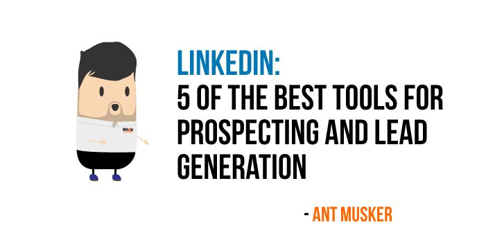 LinkedIn - 5 of the best tools for #prospecting and #LeadGeneration https://www.whoisvisiting.com/linkedin-5-best-tools-prospecting-lead-generation/?ref=quuu&utm_content=buffer0e1c5&utm_medium=social&utm_source=pinterest.com&utm_campaign=buffer Whoisvisiting.com #marketing