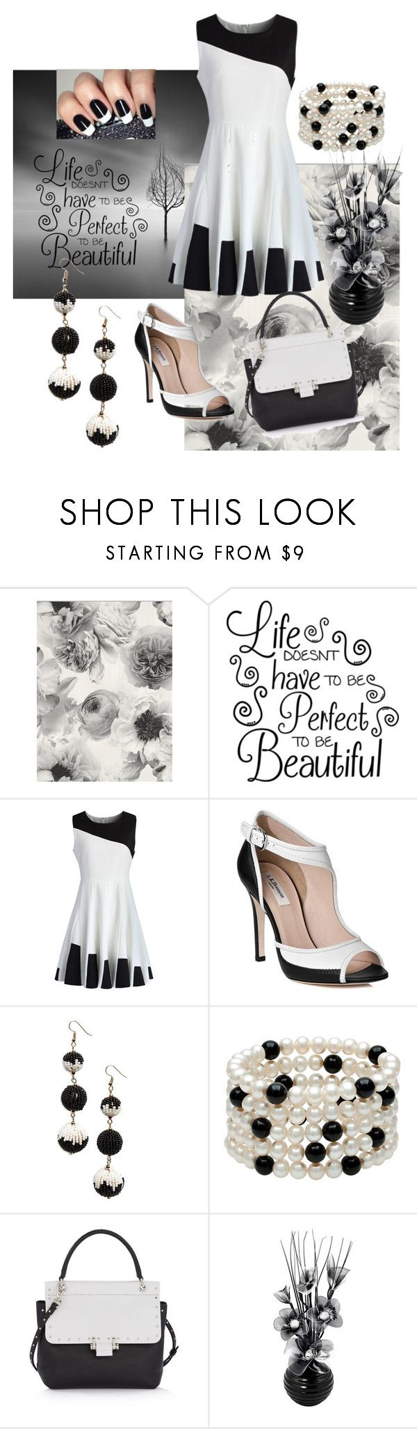 """""""BLACK & WHITE SKATER DRESS STYLIN'!"""" by lensesrmything ❤ liked on Polyvore featuring Chicwish, L.K.Bennett, BP. and Lanvin"""