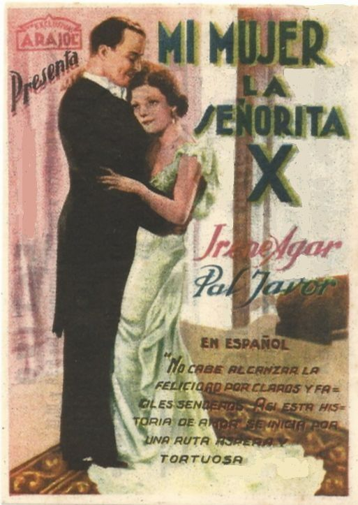 "Mi mujer la señorita X (1938) ""Maga lesz a férjem"" de Béla Gaál - tt0029186"