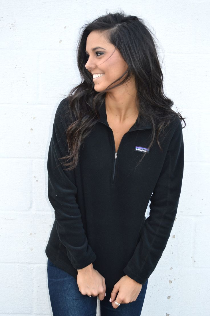 Patagonia Women's Micro D Quarter Zip Fleece- Black from Shop Southern Roots TX