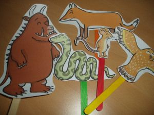 Gruffalo stick puppets -home ed -  twinkl free resources