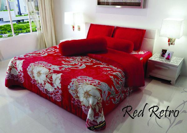 """RED RETRO - """"Motif retro vintage dengan balutan warna merah ini cocok untuk anda yang memiliki selera retro untuk mempercantik kamar tidur anda"""""""