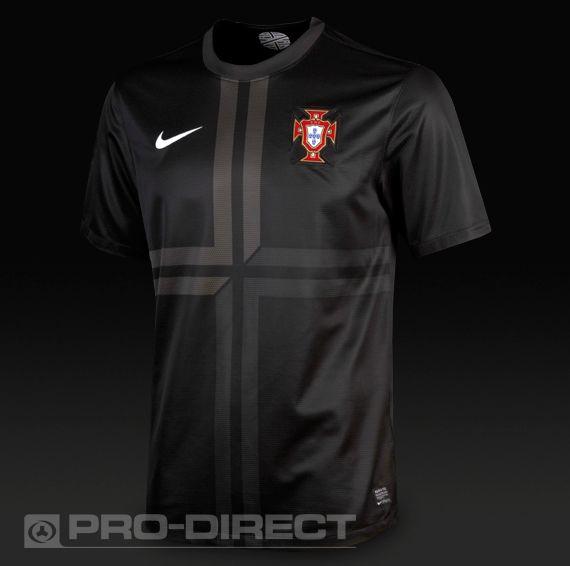 Football Shirts - Nike Portugal SS Away Replica Jersey - Replica Clothing - Black-Midnight Fog-Football White