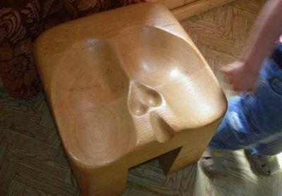 Scottish bar stool for men wearing kilts...I almost pinned it to my secret board but it was just too funny