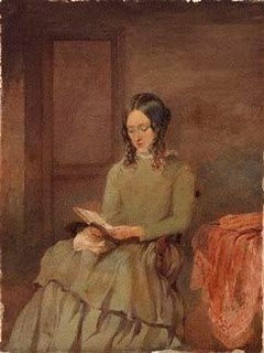 Unknown woman, formerly known as Charlotte Brontë (Mrs A.B. Nicholls)  by Unknown artist, watercolour, 1850