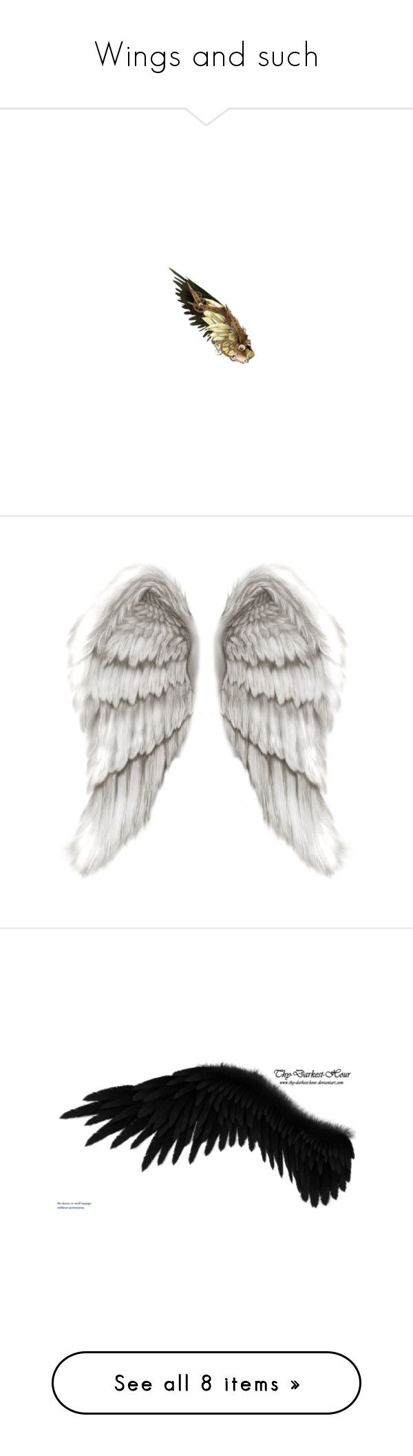 """""""Wings and such"""" by elizasorensen ❤ liked on Polyvore featuring costumes, wings, steampunk, doll parts, fillers, doll halloween costume, steam punk halloween costumes, baby doll halloween costume, babydoll costume and steam punk costume"""