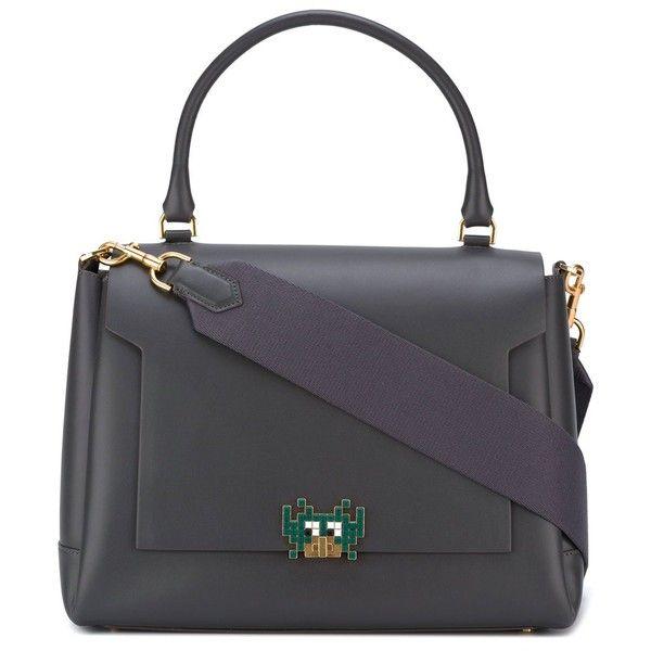 Anya Hindmarch Medium Tote Bag ($2,500) ❤ liked on Polyvore featuring bags, handbags, tote bags, grey, anya hindmarch tote bag, grey purse, gray tote, grey tote bag and gray tote bag