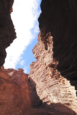 """This is an amazing site on the way to Cafayate called """"El Garganta del Diablo"""" (The Throat of the Devil). When you are inside it you get totally disoriented because of the angles of the walls."""