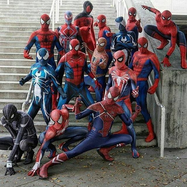 Spider-Man group cosplay