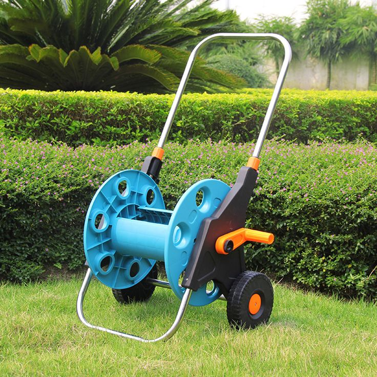Portable Garden Water Hose Reel Cart with Wheels Garden