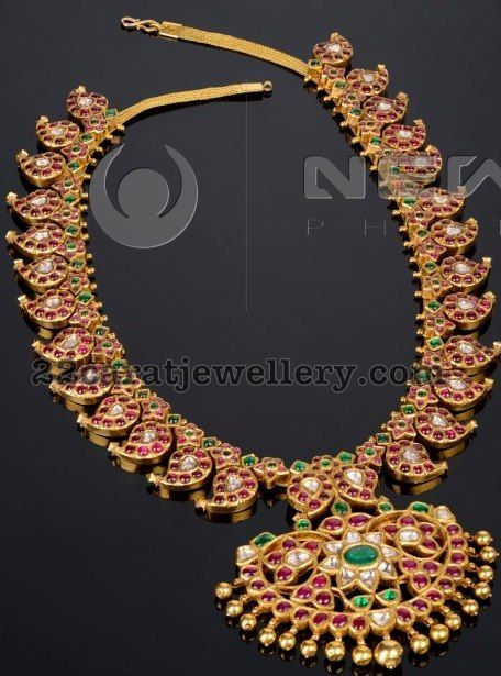 Unique Manga Mala with Rubies indian traditional jewellery