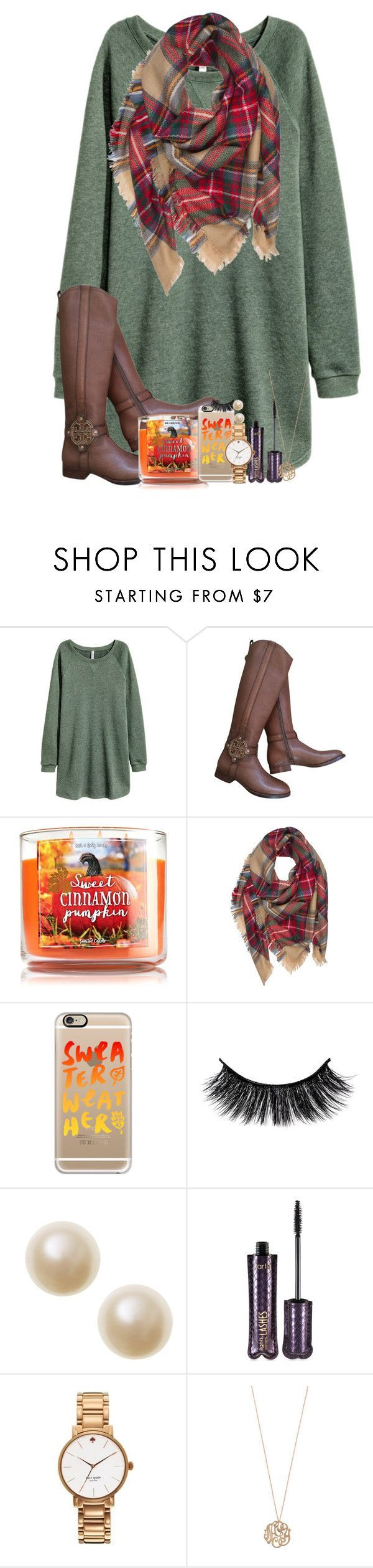 """even the leaves fall for you my love"" by legitmaddywill ❤️ liked on Polyvore featuring Tory Burch, Casetify, tarte, Kate Spade and Ginette NY"