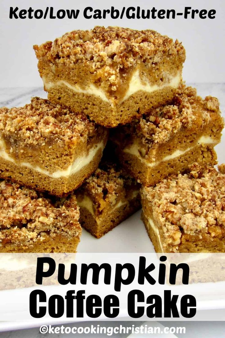 Pumpkin Coffee Cake – Keto/Low Carb/Gluten-Free This moist and delicious Keto co… – Best Gluten-Free Recipes