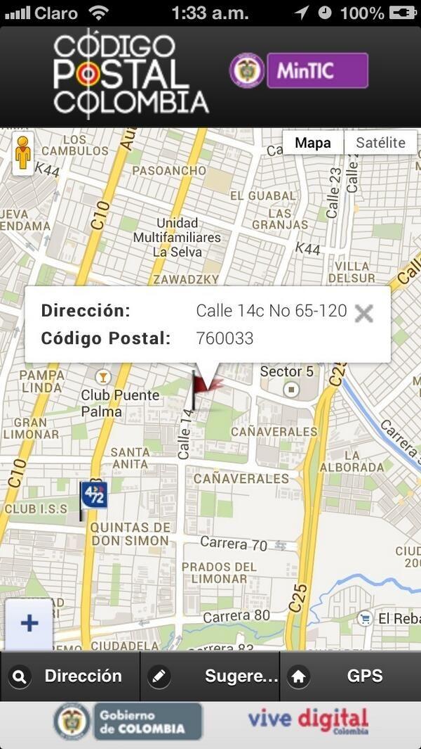 Nuestro Código Postal en Colombia