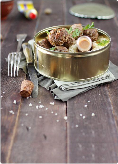 Boulettes de boeuf, saveur couscous
