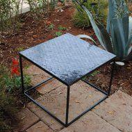 Table zellige marocaine motif losange graphite