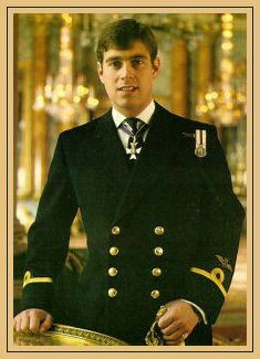 Prince Andrew this postcard was pinned to my cork board