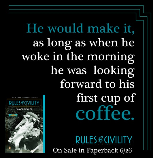 That first cup of coffee #RulesofCivility