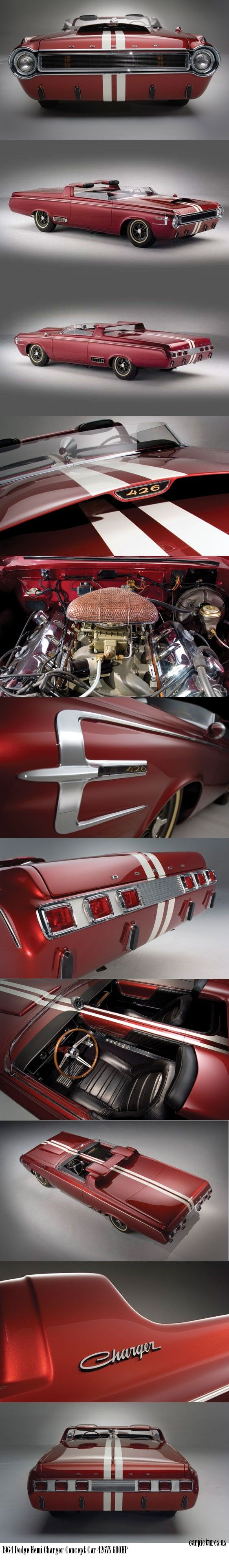 1964 Dodge Hemi Charger Concept Car. 426 Hemi, 600HP. | Repinned by www.BlickeDeeler.de