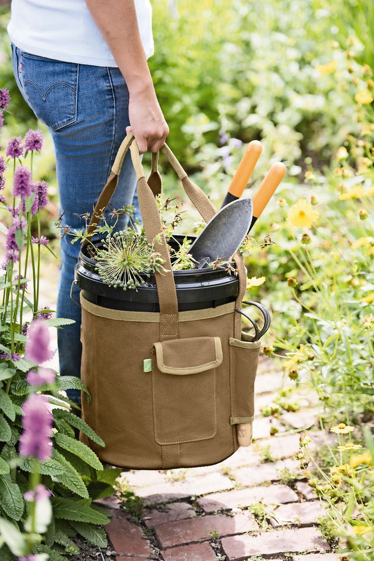 Gardener s Puddle Proof Bucket Apron Tool Tote