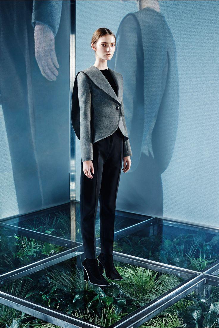 Balenciaga Pre-Fall 2014 Fashion Show.  I like the transition to sleeve capes.