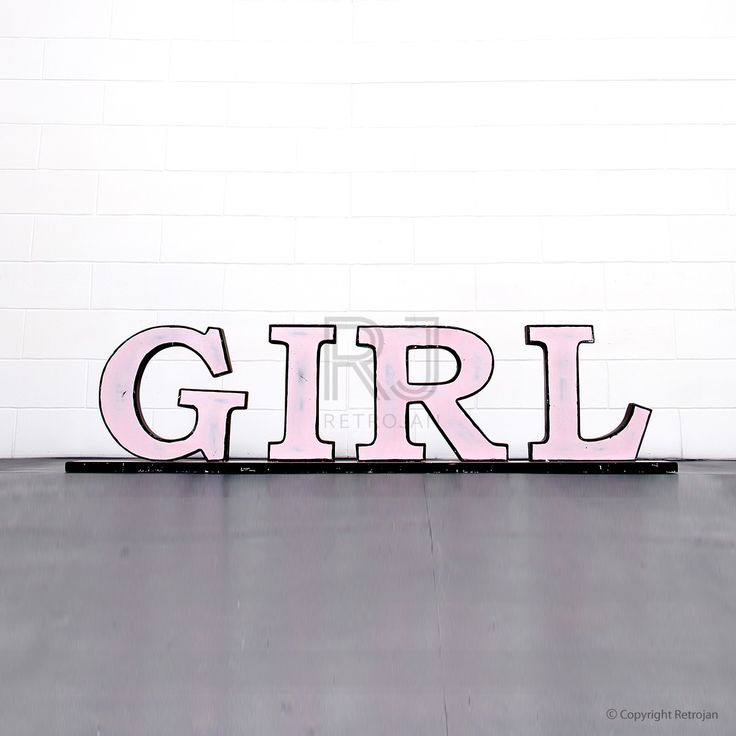 'GIRL'  Retro Iron Feature Letters  | RP: $99.00, SP: $29.00