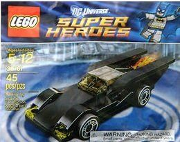 LEGO Super Heroes 30161 Batmobile Bagged Set by LEGO. $9.19. Perfect set to fit with the Batman series.. There's no minifig, but as a result there are a lot of pieces, including some useful and rare ones (the 2x4 curved slope on the front).. LEGO 30161 Batmobile is a DC Universe Super Heroes promotional polybag set released in 2012.. Hard set to find.  Buy it now!. Great for kids to be creative.. Here's today's polybag set free with The Sun newspaper in the UK, 30161 Batmobi...