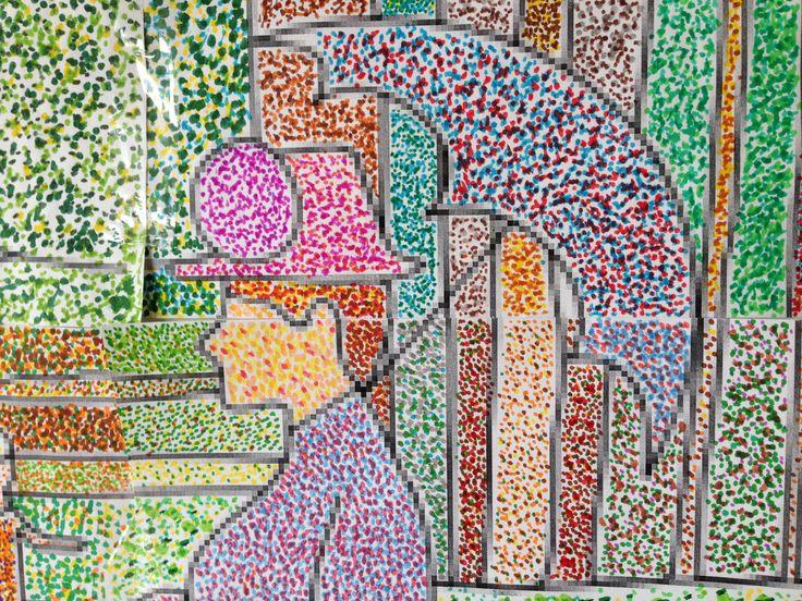 Georges seurat pointillisme segpa art l 39 cole pinterest pointillisme seurat - Dessin art plastique a imprimer ...