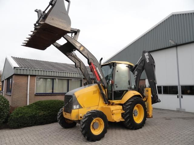 Good price Backhoe Volvo BL61 Plus Second Hand. Manufacture year: 2007. Working hours: 3324. Weight: 9072 kg. Power: 70kW.  Tires: 60%. Excellent running condition. Ask us for price. Reference Number: AC0079. Baurent Romania.
