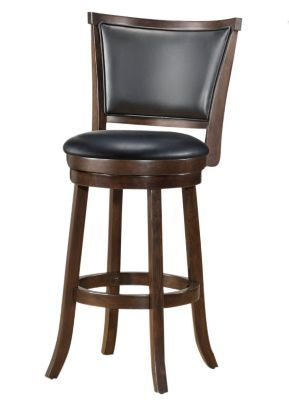 Shop Staples® for WHI 26'' Wood Swivel Counter Stool with Black Faux Leather, Dark Walnut, Set Of 2 $299