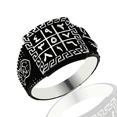 Beelogold - 925K Sterling Silver Numerlogical Men Ring