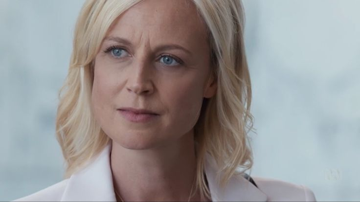 Marta Dusseldorp as Janet King. Bianking