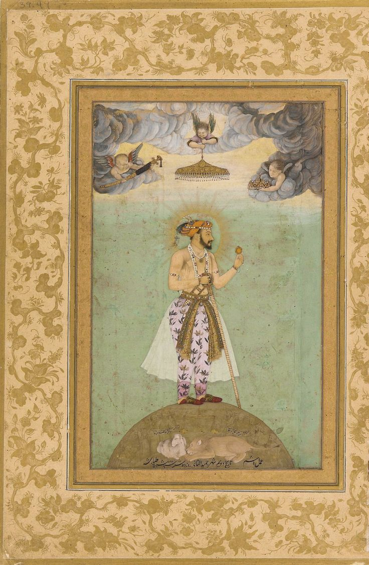 The Emperor Shah Jahan Standing Upon A Globe 1629 India