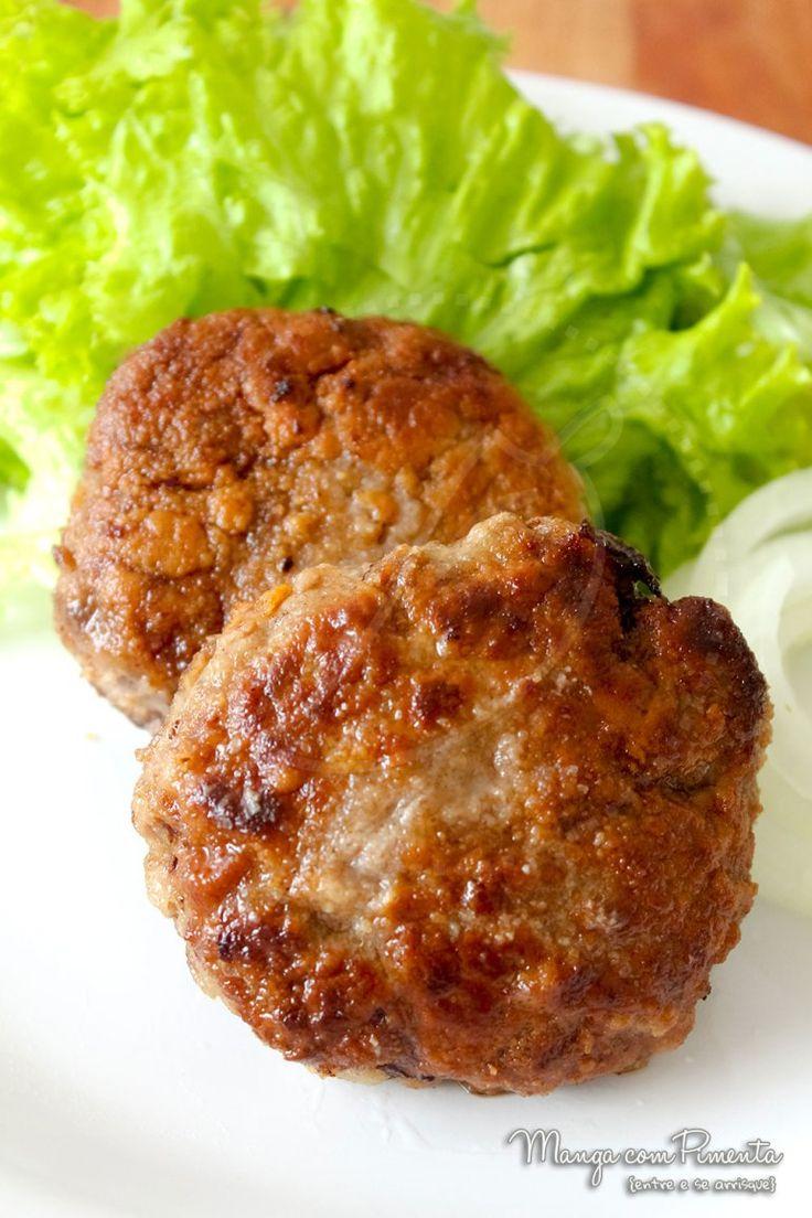 Bife de Carne Moída à Milanesa, para ver a receita clique na imagem para ir ao Manga com Pimenta.