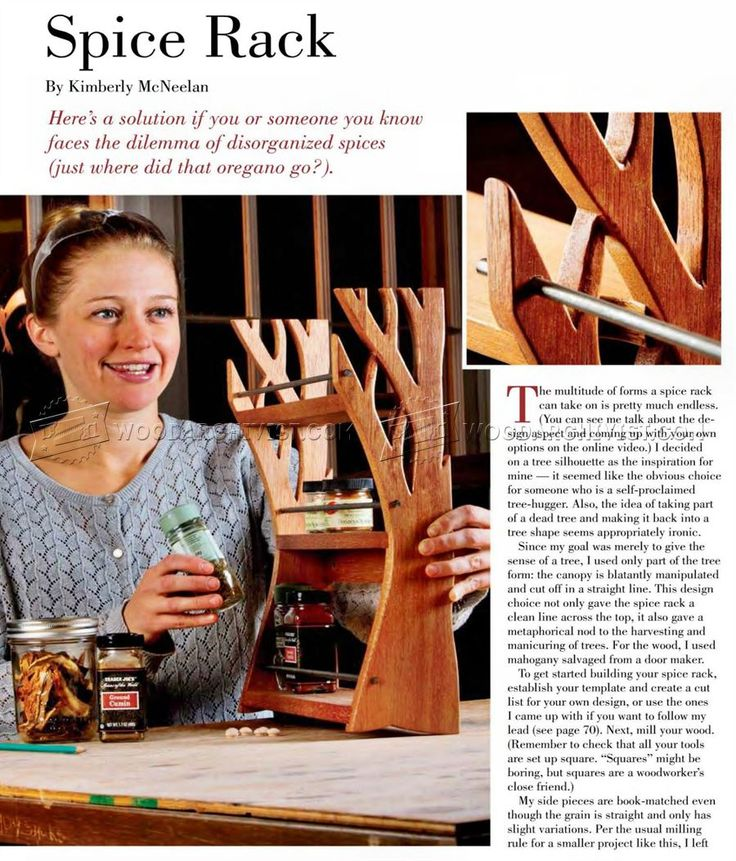 Woodworking Plans For Kitchen Spice Rack: #2432 Wooden Spice Rack Plans