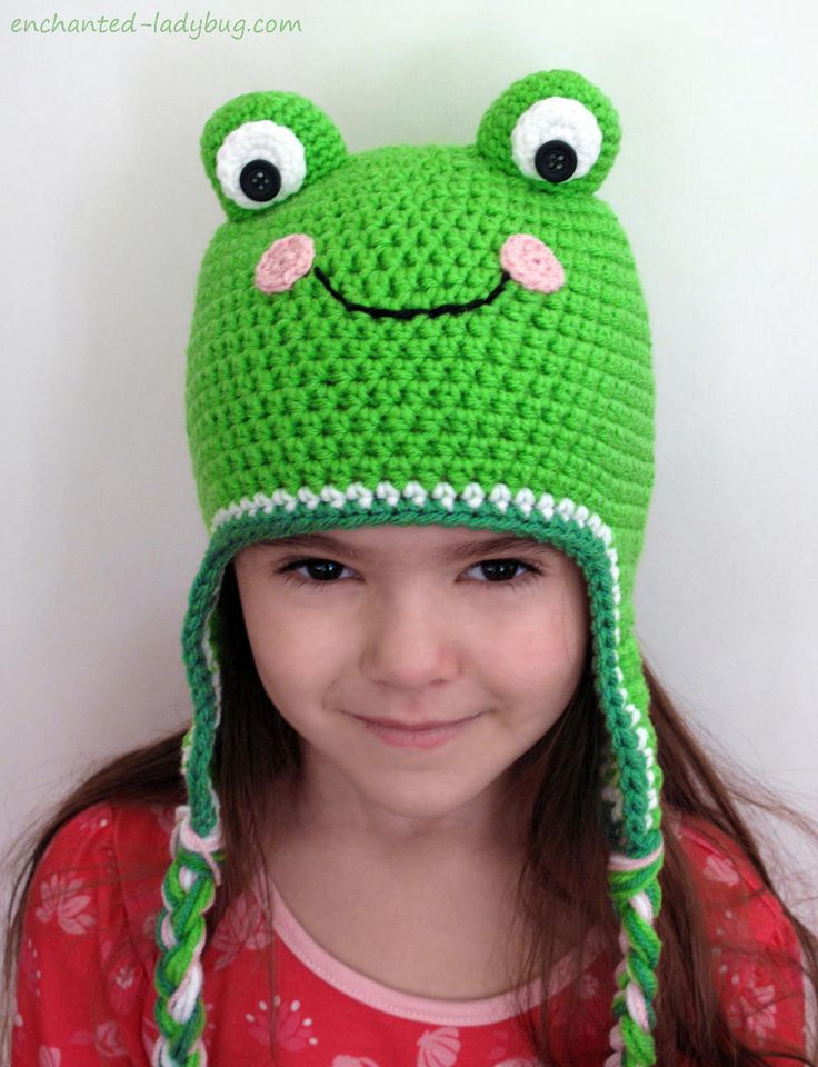 "If you have a frog lover in your life, the Crochet Frog Hat is the crochet hat pattern for you! This easy crochet pattern, worked up in worsted weight yarn, features a frog's face and earflaps, perfect for staying warm in the winter's chill. Available from sizes baby to adult, this hat pattern will make everyone smile.<br /> <br /> <strong>From the Designer:</strong> ""This cute little hat is perfect for all frog lovers! It can be made for any one of any age. It is..."