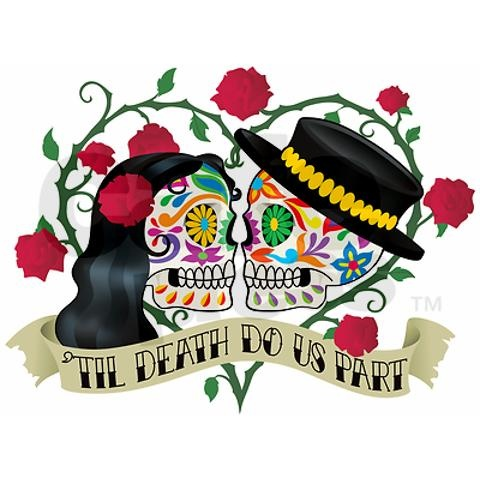 This would be the BEST to represent my folks with small changes.  Dia de los Muertos