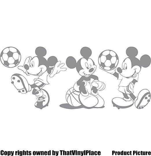 3 Stickers Mickey Mouse 25 cm Choisissez couleur 18 couleurs en stock Disney, boule, basket-ball, Football, chambre, chambre enfants Stickers, vinyle de voiture, Windows et mur sticker, mur d'art de Windows, Stickers, ornement vinyle autocollant vendu par 4printer: Amazon.fr: Bébés & Puériculture