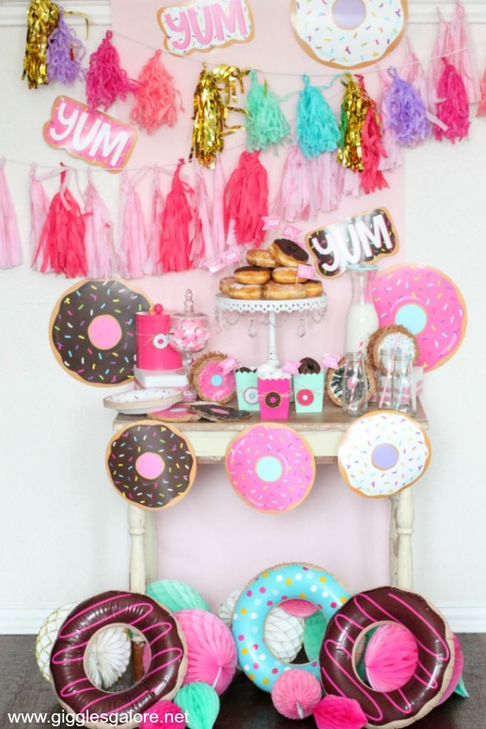 Cute And Simple Donut Themed Party With Images Donut Themed