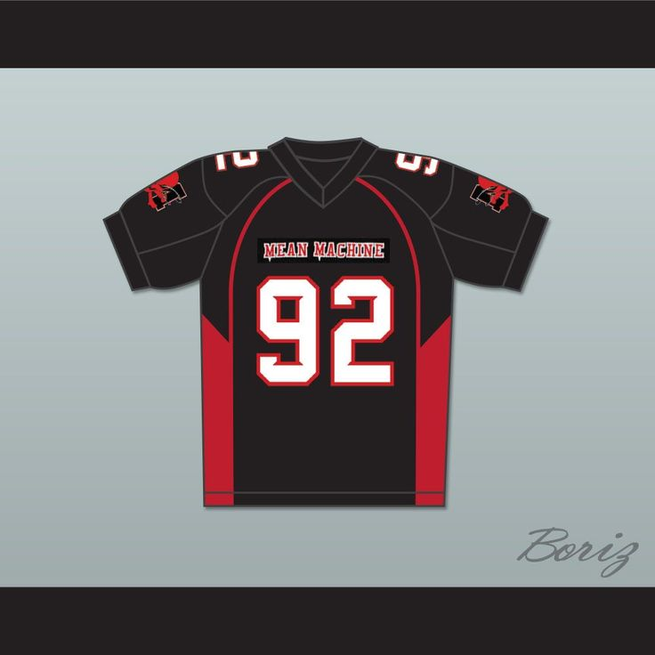 """Joey Diaz 92 Anthony """"Big Tony"""" Cobianco Mean Machine Convicts Football Jersey Includes. STITCH SEWN GRAPHICS  CUSTOM BACK NAME CUSTOM BACK NUMBER ALL SIZES AVAILABLE SHIPPING TIME 3-5 WEEKS WITH ONLINE TRACKING NUMBER Be sure to compare your measurements with a jersey that already fits you. Please consider ordering a larger size, if you plan to wear protective sports equipment under the jersey. HOW TO CALCULATE CHEST SIZE: Width of your Chest plus Width of your Back plus 4 to 6 inches to…"""