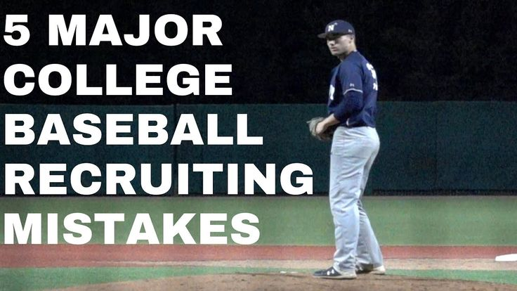 Are You Or An Athlete You Know Going Through The Recruiting Process Check Out Five Big Mistakes That Players In 2020 College Recruiting College Baseball Baseball Tips