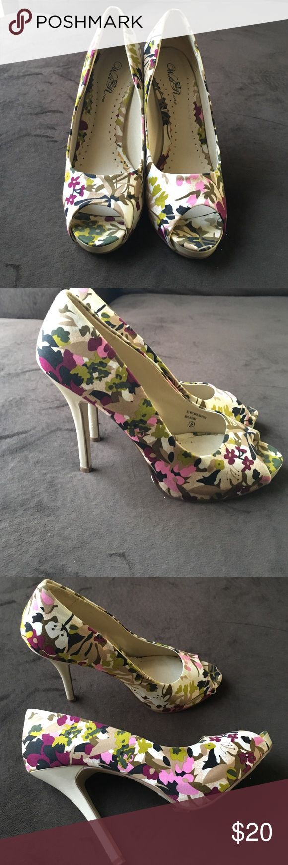Wild Rose Peep Toe Pumps 👠 Wild Rose Peep Toe Pumps 👠 Shoes Heels