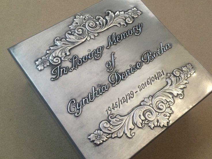 I pewtered this box for my late mother-in-law whom I loved dearly. Working in pewter can be very therapeutic in all circumstances