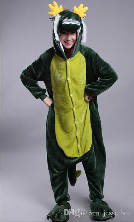 2015 Unisex Adult Anime Onesie Kigurumi Pajamas Cosplay Costume Sleepwear With Back Zip ForToilet Zodiac Green Dragon Halloween Costume Online with $30.8/Piece on Jessiebee's Store | DHgate.com
