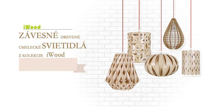 Originálne závesné drevené svietidlá z kolekcie iWood